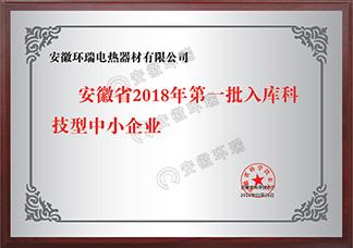 安徽省2018年第一批入库科技型中小企业