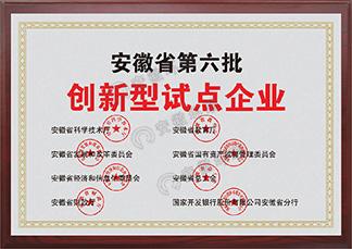 安徽省第六批创新型试点企业
